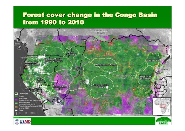 Forest cover change in the Congo BasinForest cover change in the Congo Basinfrom 1990 to 2010from 1990 to 2010