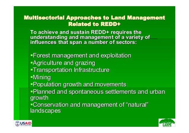 Multisectorial Approaches to Land ManagementMultisectorial Approaches to Land ManagementRelated to REDD+Related to REDD+To...