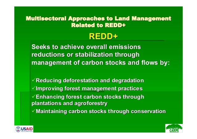 MultisectoralMultisectoral Approaches to Land ManagementApproaches to Land ManagementRelated to REDD+Related to REDD+REDD+...