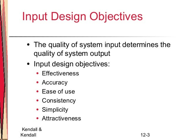 Design Effective Input Chapter 12