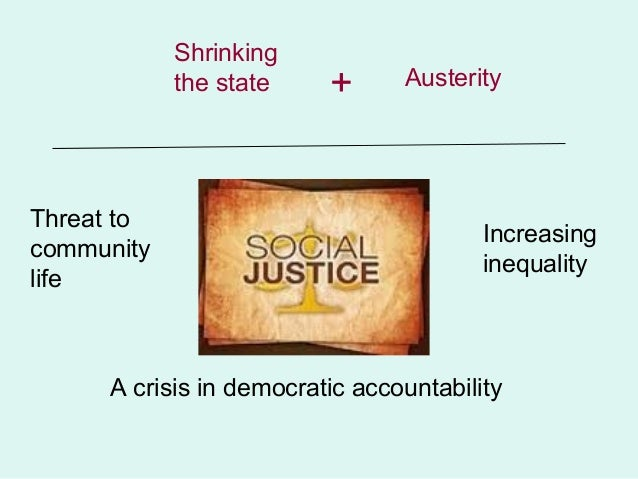 Shrinking            the state    +      AusterityThreat to                                        Increasingcommunity    ...