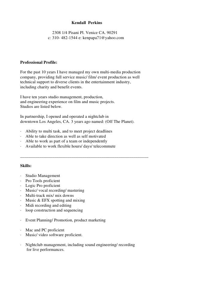 cover letter for entertainment industry