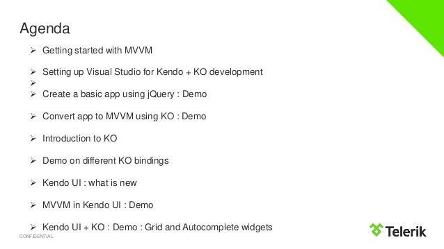Slides of webinar Kendo UI and Knockout.js