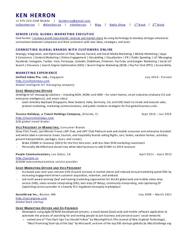SlideShare  Chief Marketing Officer Resume