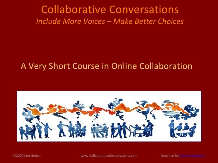 ©2009 Ken Homer www.CollaborativeConversations.com Collaborative Conversations  Include More Voices – Make Better Choices ...
