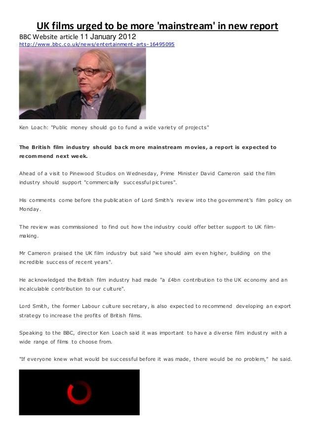 Ken loach independant cinema article