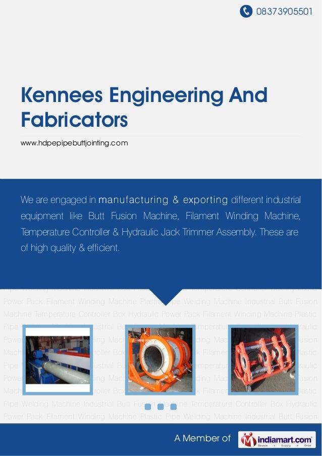 08373905501A Member ofKennees Engineering AndFabricatorswww.hdpepipebuttjointing.comFilament Winding Machine Plastic Pipe ...