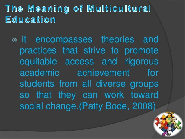 an analysis of the meaning of multiculturalism and the reason for the multicultural education Dealing with cross-cultural conflict in a multicultural organisation: an education management perspective by  24 data analysis and interpretation.