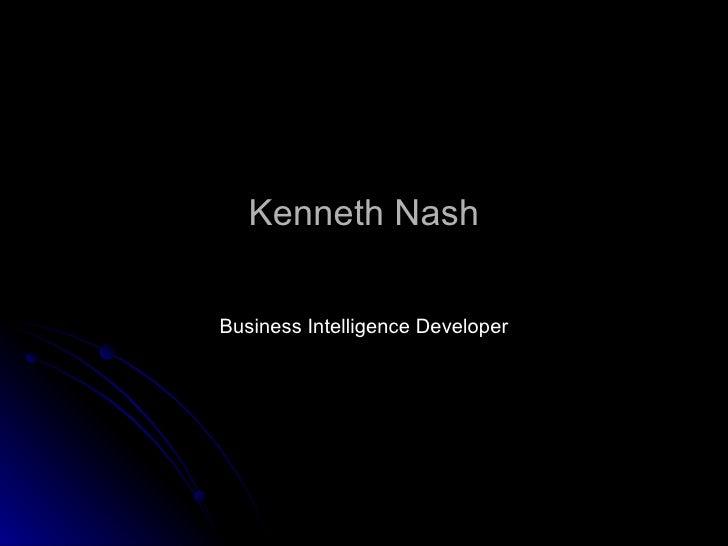 Kenneth Nash Business Intelligence Developer