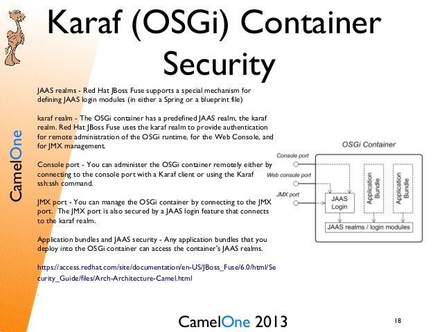Camelone 2013 karaf a mq camel cxf security 18 malvernweather Choice Image