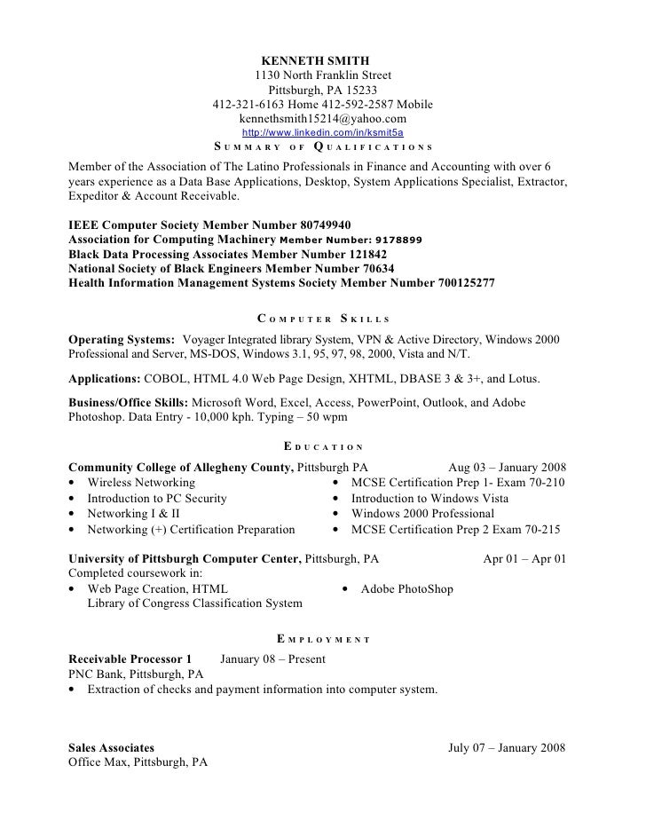 Kenneth smith resume httptwitter comksmit5a ieee computer for Ieee cover letter example