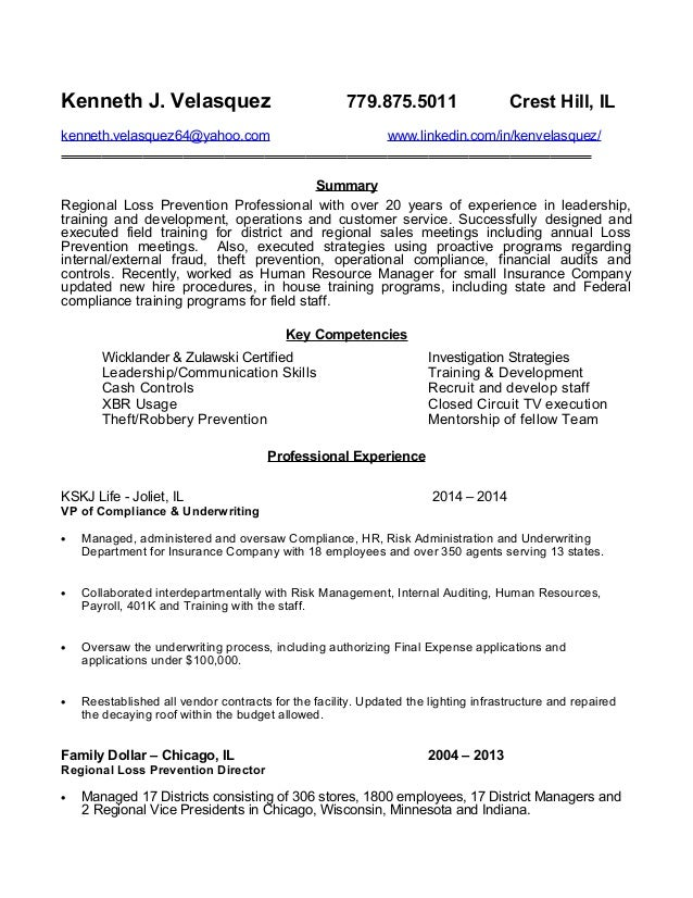 Loss Prevention Cover Letter - Losing a cover letter