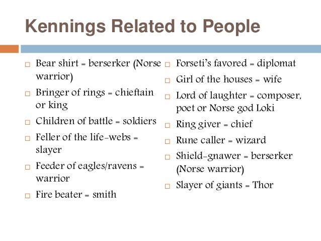 examples of kennings