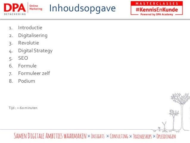 Kennis & Kunde - Jouw persoonlijke Digital Strategy Slide 3