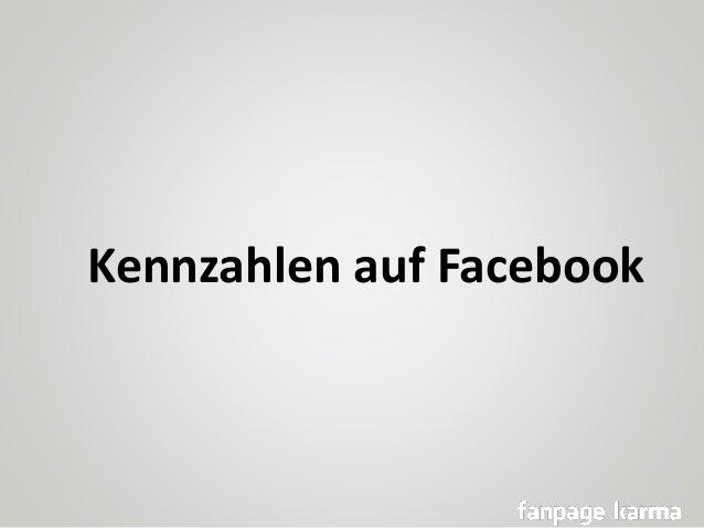 Kennzahlen auf Facebook