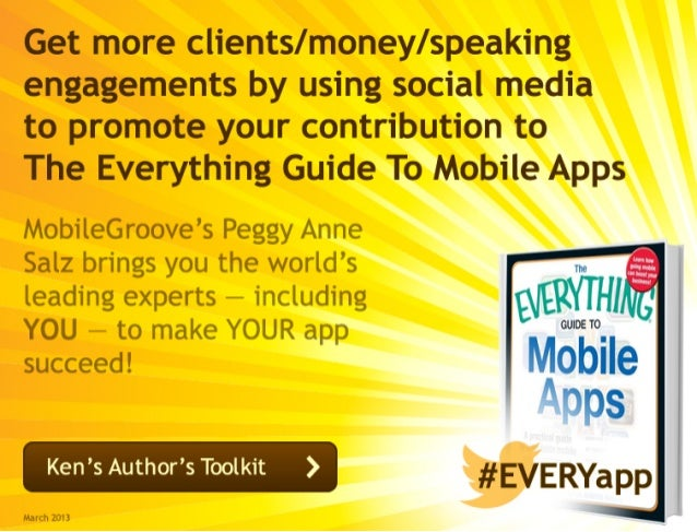 Get more clients/money/speakingengagements by using social mediato promote your contribution to The Everything Guide To Mo...
