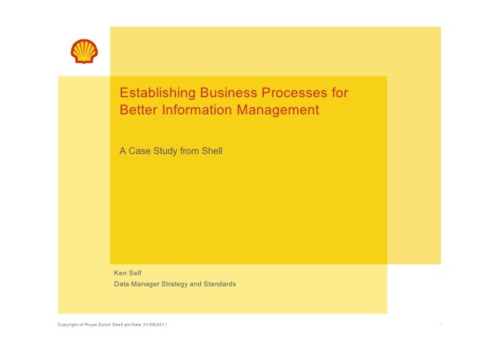 Establishing Business Processes for                            Better Information Management                            A ...