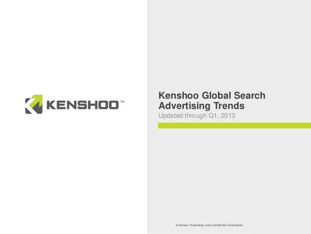 Kenshoo: Proprietary and Confidential InformationKenshoo: Proprietary and Confidential InformationKenshoo Global SearchAdv...
