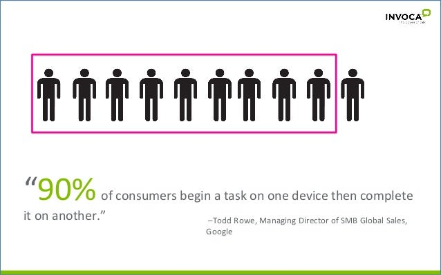 """""""90%  of  consumers  begin  a  task  on  one  device  then  complete   it  on  another.""""     ..."""