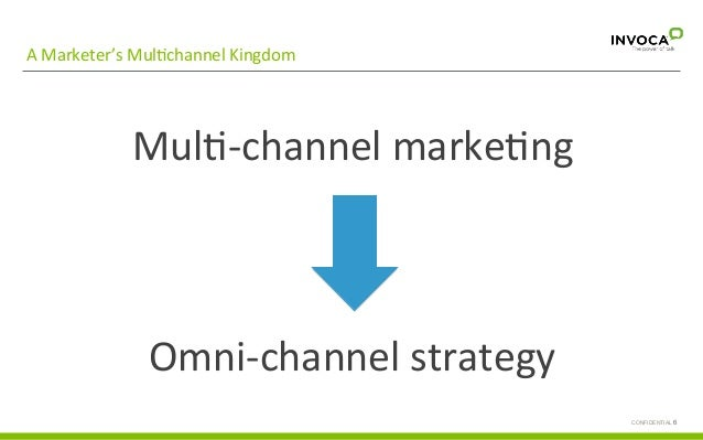 A  Marketer's  MulGchannel  Kingdom   CONFIDENTIAL 6 Call  with  basic   informa;on  request   MulG-‐ch...