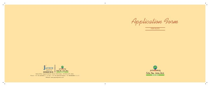 Application Form      for Plots