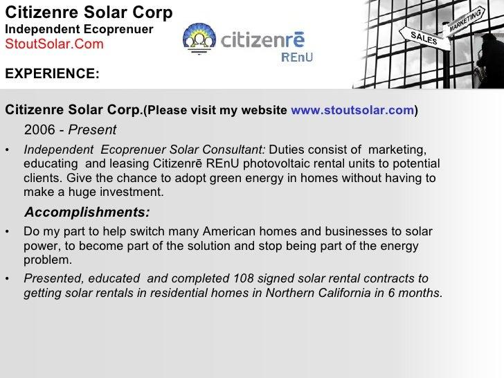 Enchanting Solar Installer Resumes Gift - Examples Professional ...