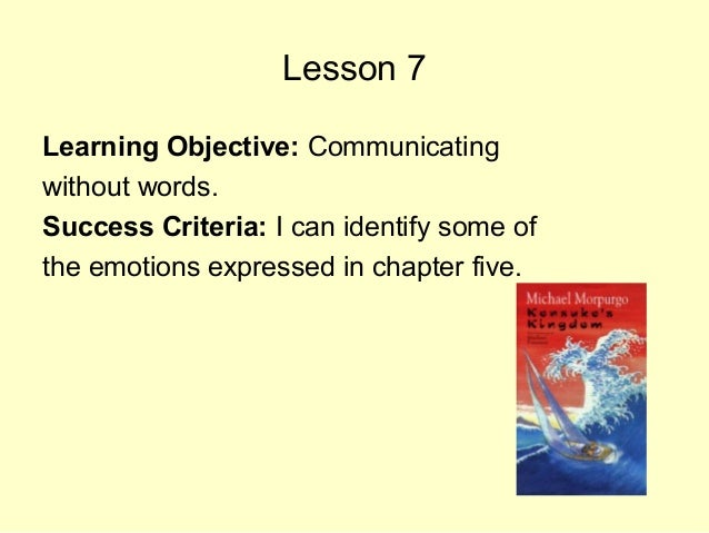 Lesson 7 Learning Objective: Communicating without words. Success Criteria: I can identify some of the emotions expressed ...