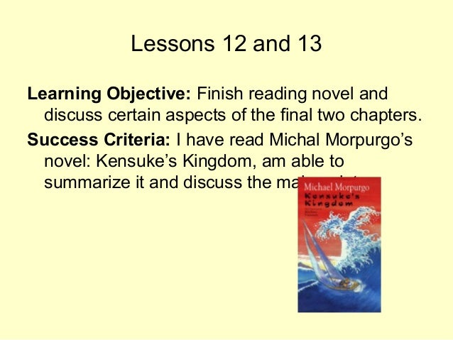 1. Describe the atmosphere between Michael and Kensuke at the beginning of the chapter. 2. What is it that makes Kensuke c...