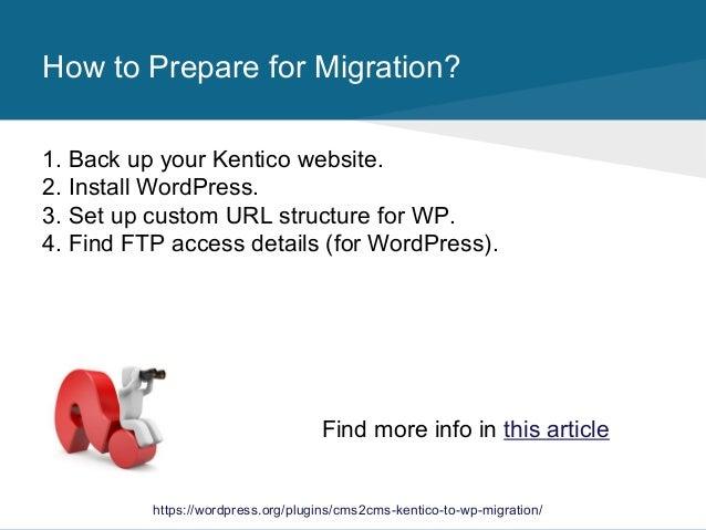 CMS2CMS: Kentico to WordPress Migration Plugin. How It Works. slideshare - 웹