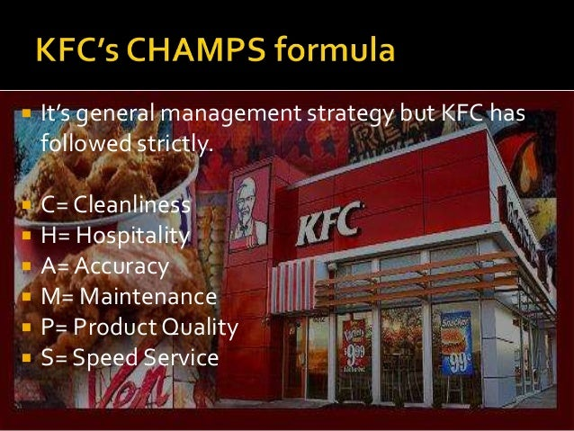 change quality management mcdonald vs kfc Kfc quality management is that the provision of the fresh broiler chicken with high quality from certified poultries start doing control chart because control chart is about how a process for produce their foods change over time in their quality management.