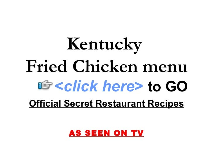Kentucky Fried Chicken Quotes Quotesgram: Kentucky Fried Chicken Menu
