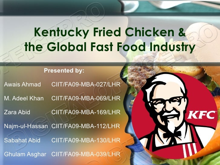 Kfc And Global Fast Food Industry Case Analysis