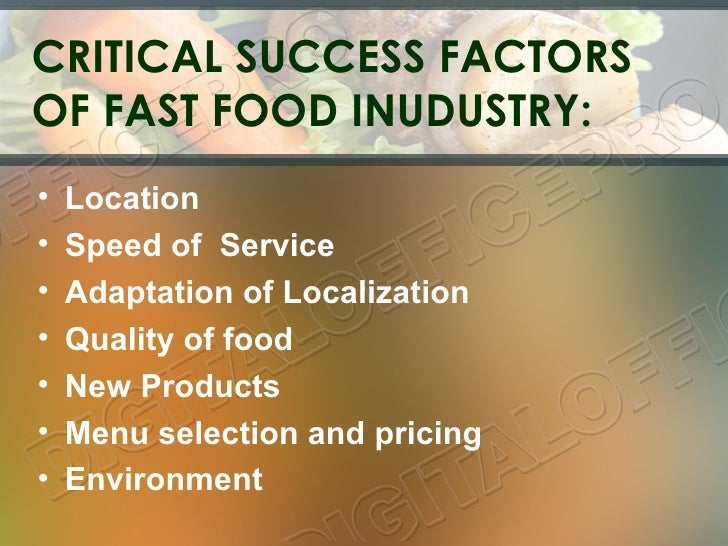Customer Satisfaction In Fast Food Industry