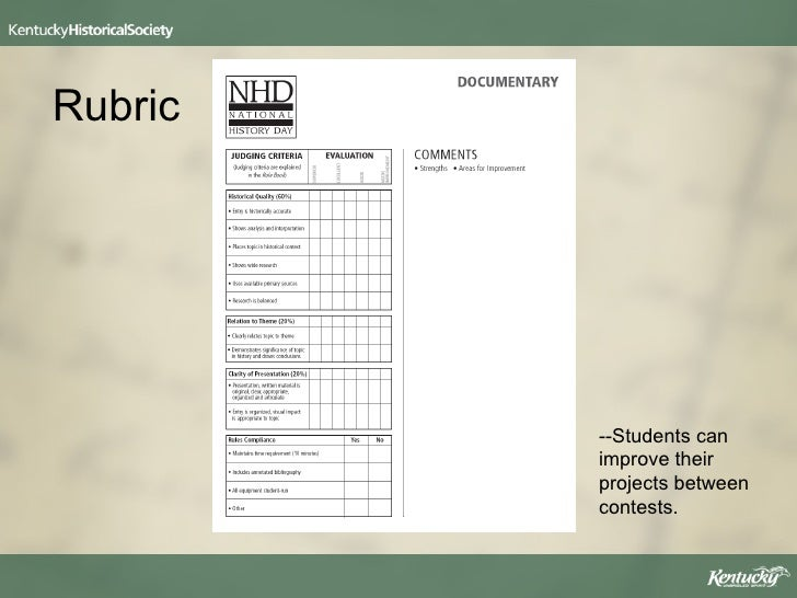 nhd essay rubric Research paper rubric name: _____ date: _____ score: _____ category essay, guide and rubrics contains 5 - 6 of criteria for meets and /or poorly organized 5 criteria for meets absent contents, structure and organization.