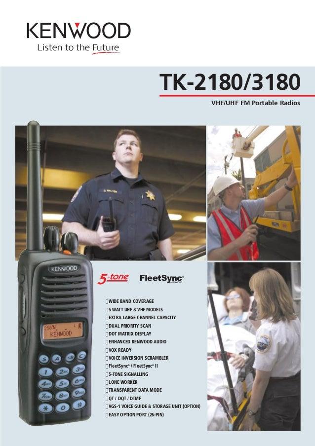 Kenwood TK-7102H-1 VHF 146-174Mhz 50 watt 4 Ch Radio w// Microphone /& Bracket