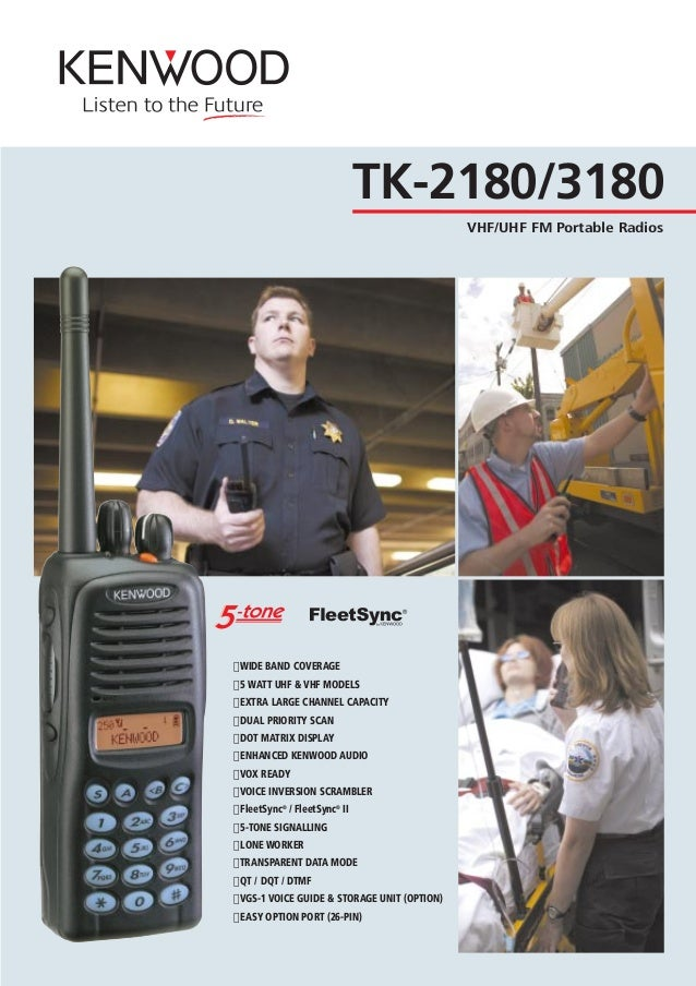 "TK-2180/3180 VHF/UHF FM Portable Radios "" WIDE BAND COVERAGE "" 5 WATT UHF & VHF MODELS "" EXTRA LARGE CHANNEL CAPACITY "" DU..."