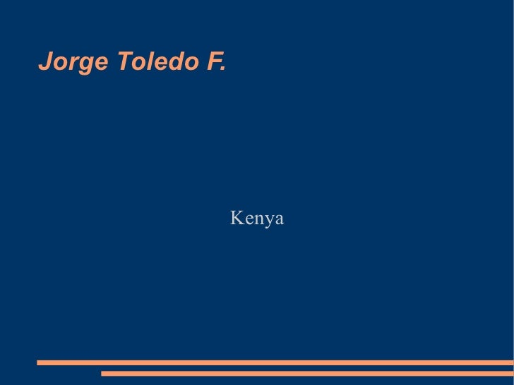 Jorge Toledo F. Kenya