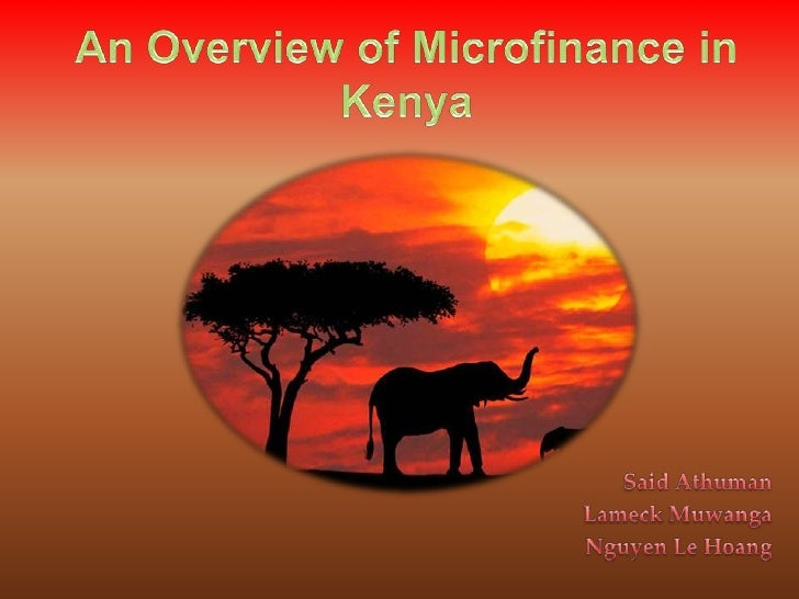 An Overview of Microfinance in Kenya