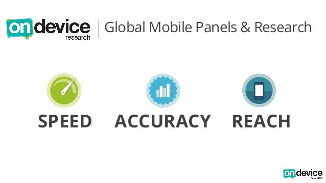 Global Mobile Panels & Research  SPEED ACCURACY REACH