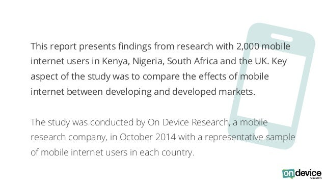 O  This report presents findings from research with 2,000 mobile  internet users in Kenya, Nigeria, South Africa and the U...