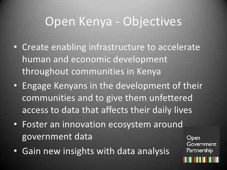 Kenya: Open Data as a Platform for Development Slide 2