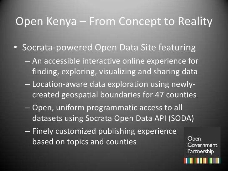 Kenya: Open Data as a Platform for Development Slide 3