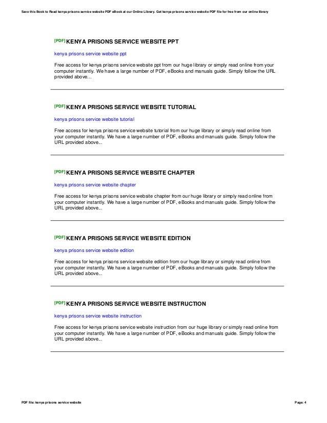 kenya prisons service website