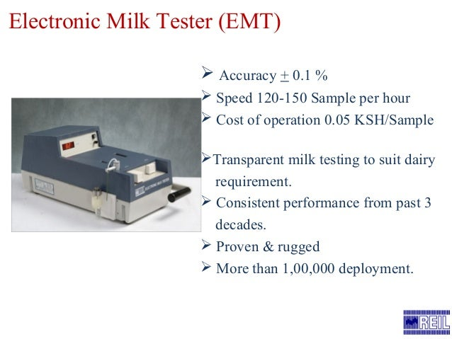 Electronic milk tester by reil