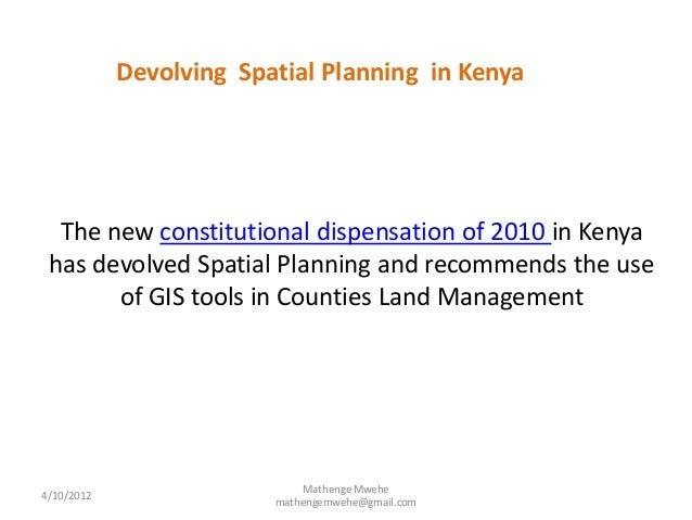 spatial planning in kenya and the Regional planning in kenya grundzuge der raumplanung in der region  kisumu kenia (basic features of regional planning in the region of kisumu,.