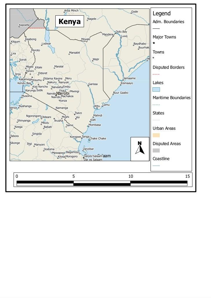 Legend     Kenya                             Adm. Boundaries                                       Major Towns            ...