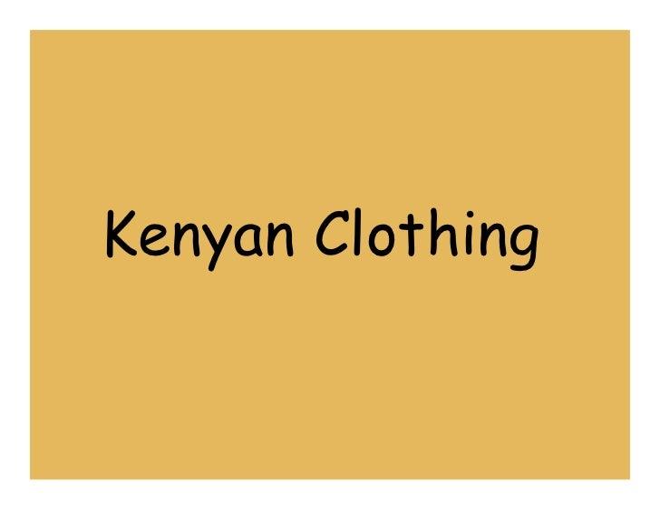 Kenyan Clothing