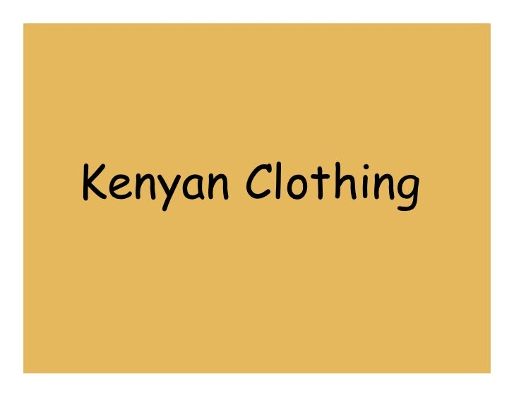 Kenyan Clothing