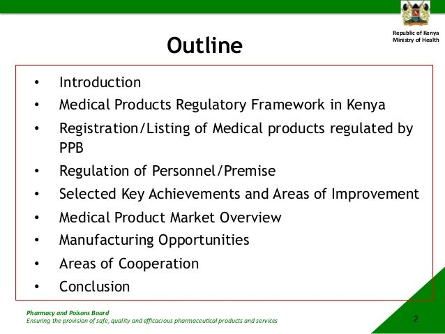 Kenya Pharmaceutical Regulatory Overview and Opportunities