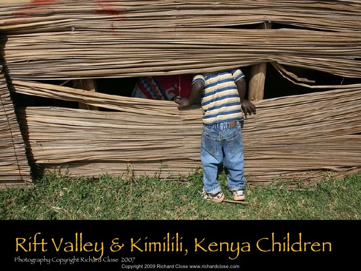 Rift Valley & Kimilili, Kenya Children Photography Copyright Richard Close  2007